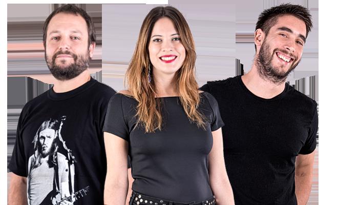 Gonzalo Vecchi, Lucas Martí y Ana Gigli