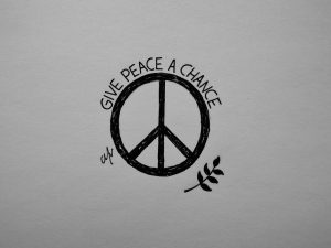 All we are saying is give peace a chance