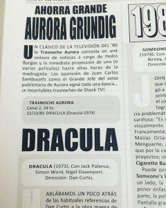 Ciclos de cine de terror en la televisión Argentina de la mano de #RadioCine