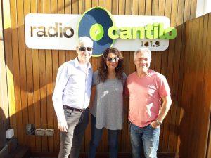 Patricia Sosa, Bb Sanzo y Juan Di Natale juntos en Radio Cantilo