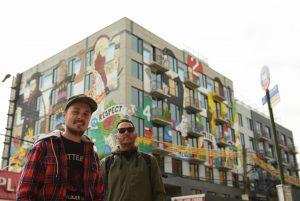 Dos argentinos realizaron el mural más grande de Brooklyn