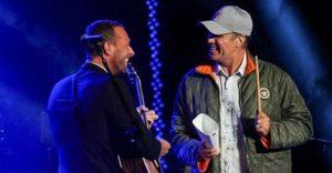 Chris Martin cantó con Will Ferrell