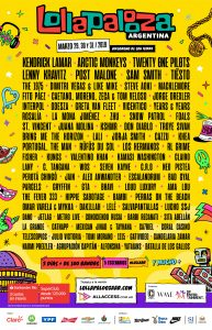 ¡Se confirmó el Line Up del Lollapalooza 2019!