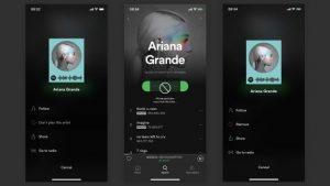 Spotify ya te permite bloquear a los artistas que no te gustan