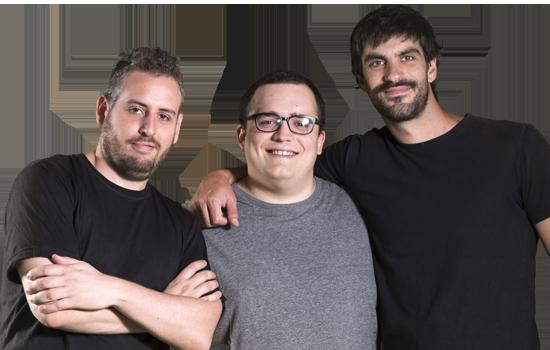 Fabricio Marchetti, Tomas Castroman y Juan Aréchaga