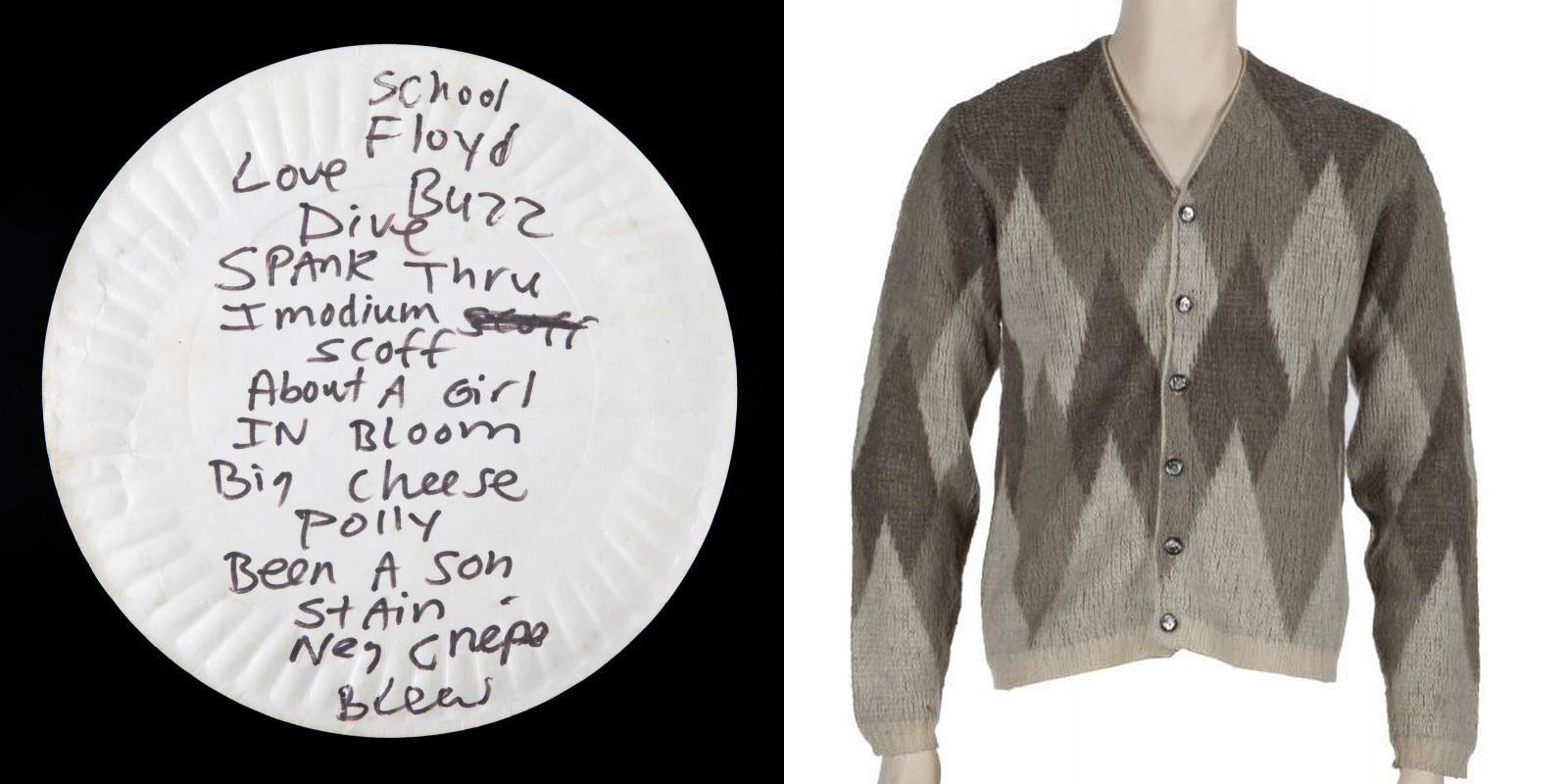 ¡Subastaron un suéter y un pedazo de cartón de Kurt Cobain por 98 mil dólares! - Radio Cantilo