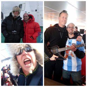 Pablo Lojo, el luthier que estuvo en el show de Metallica en la Antártida