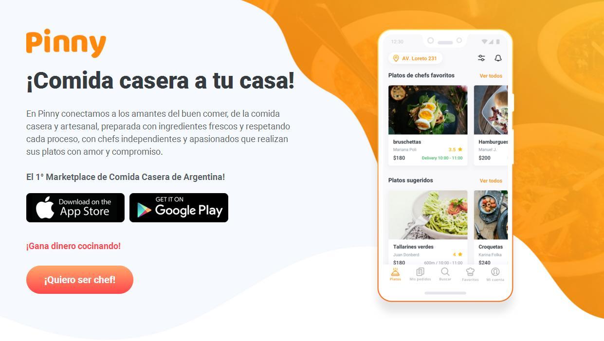 Conocé Pinny, la App para pedir comidas caseras - Radio Cantilo