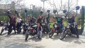 La caravana motoquera que llegó al Encuentro Nacional de Mujeres