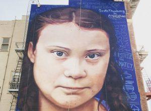 La historia detrás del mural de Greta Thunberg en San Francisco