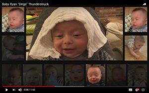 """Viral: ¡Un bebé es furor en las redes por cantar """"Thunderstruck"""" de AC/DC!"""