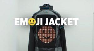 Ford creó una campera con emojis para mejorar la seguridad de los usuarios de moto y bicicleta