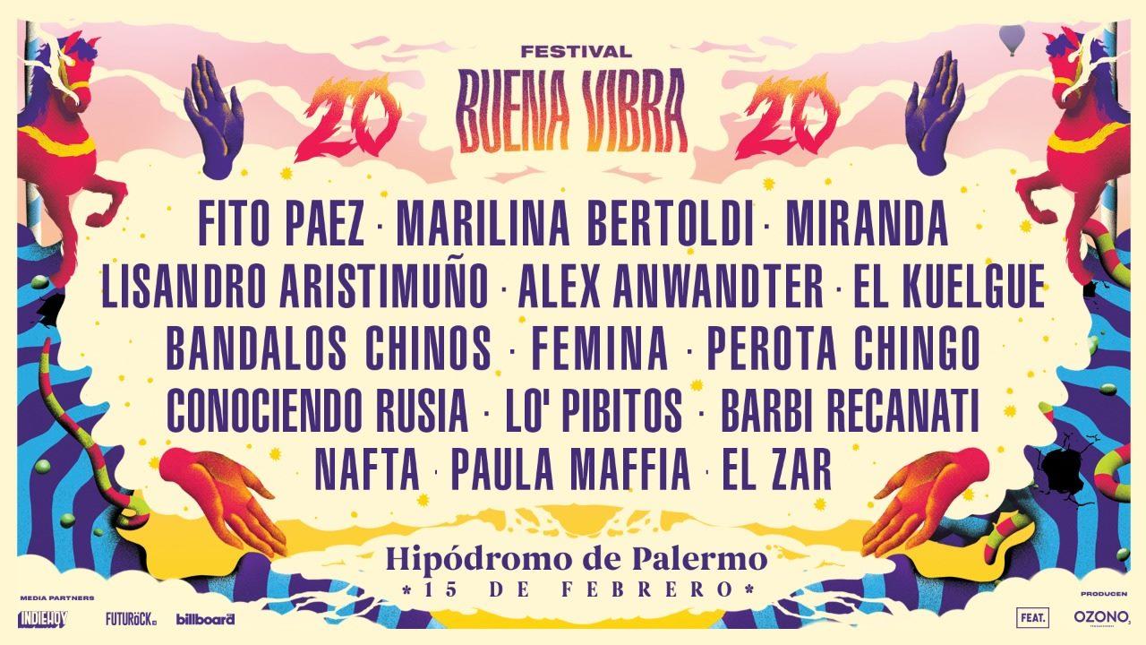 Festival Buena Vibra 2020: cronograma de artistas - Radio Cantilo