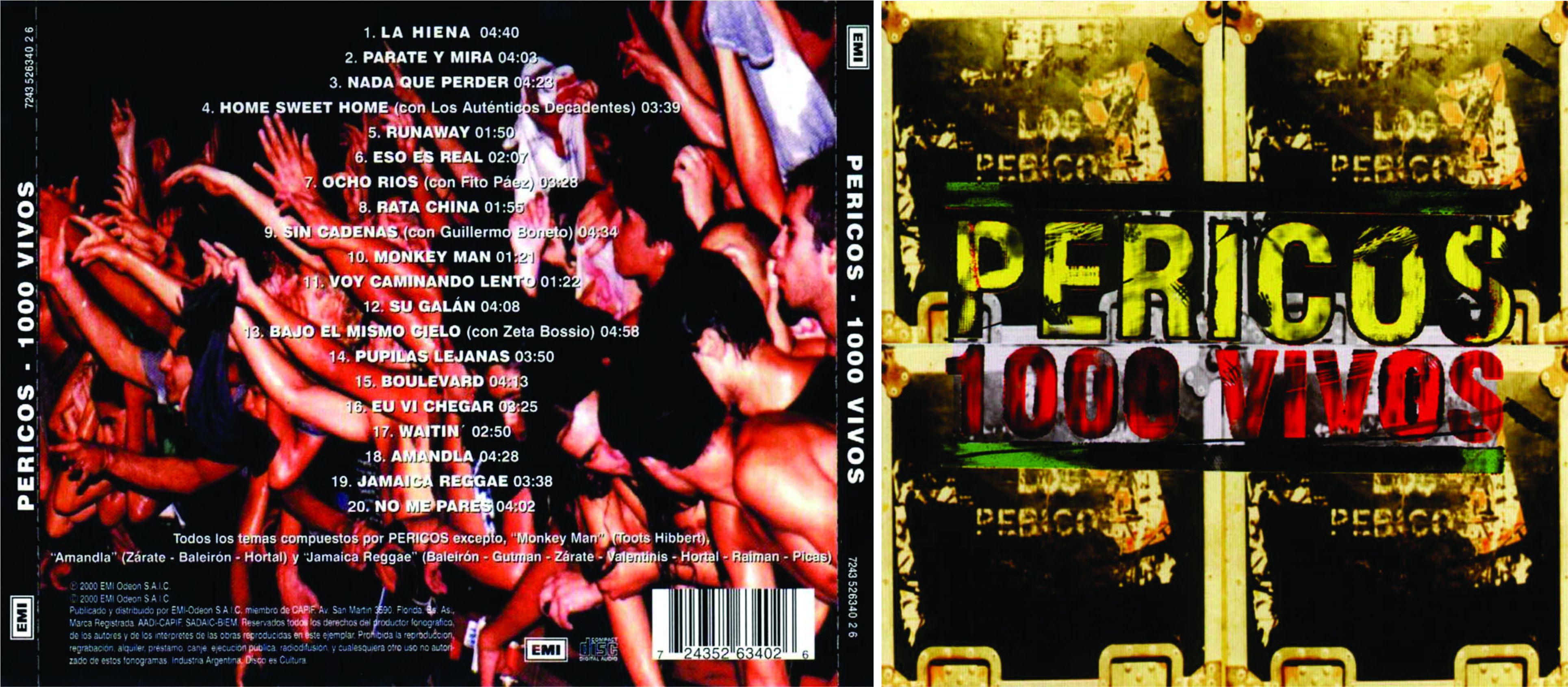 """#DiscosEnCuarentena: """"1000 vivos"""", Los Pericos - Radio Cantilo"""