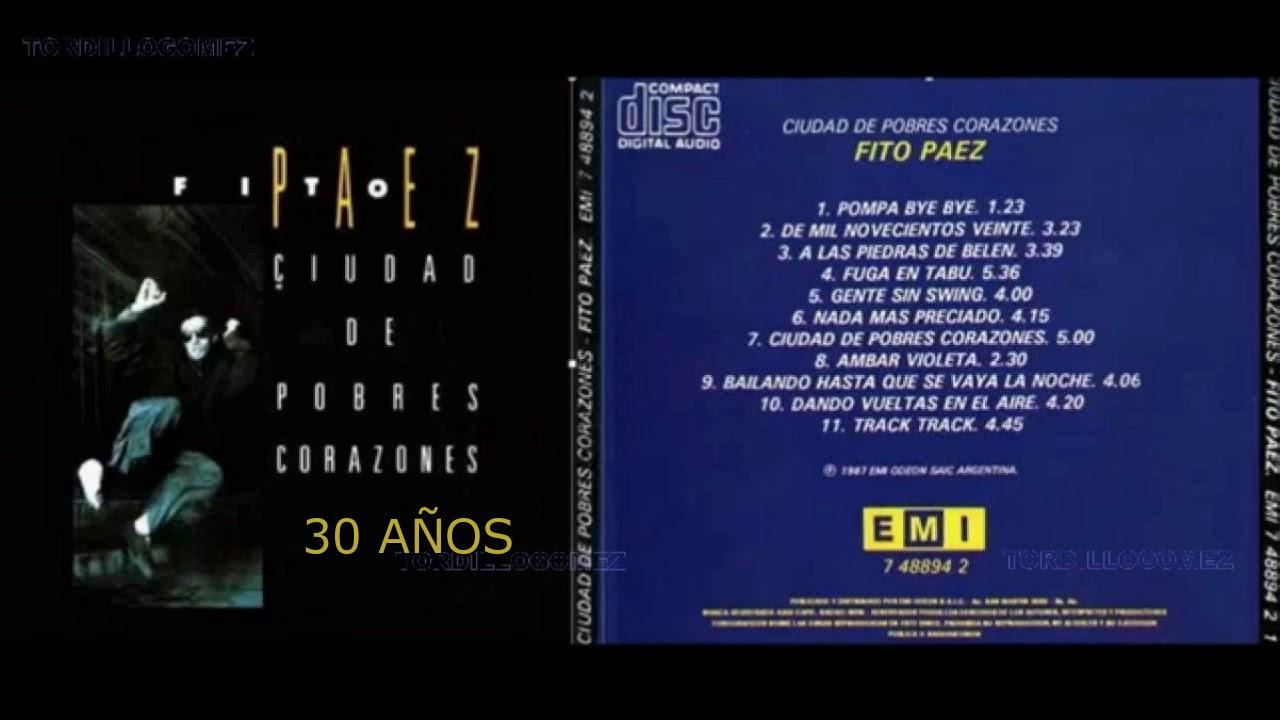 """#DiscosEnCuarentena: """"Ciudad de pobres corazones"""", Fito Páez - Radio Cantilo"""