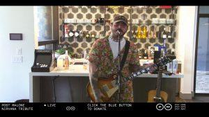 Así fue el tributo de Post Malone a Nirvana