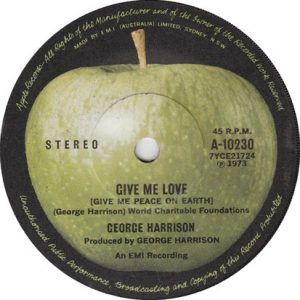 "A 47 años de la publicación de ""Give Me Love (Give Me Peace On Earth)"" de George Harrison"