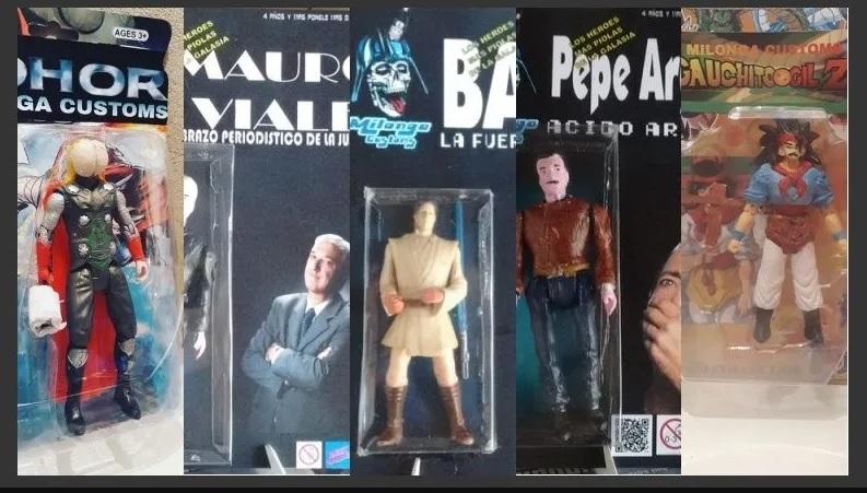 """Los secretos detrás de """"Milonga Customs"""", los bizarros muñecos de iconos argentinos - Radio Cantilo"""