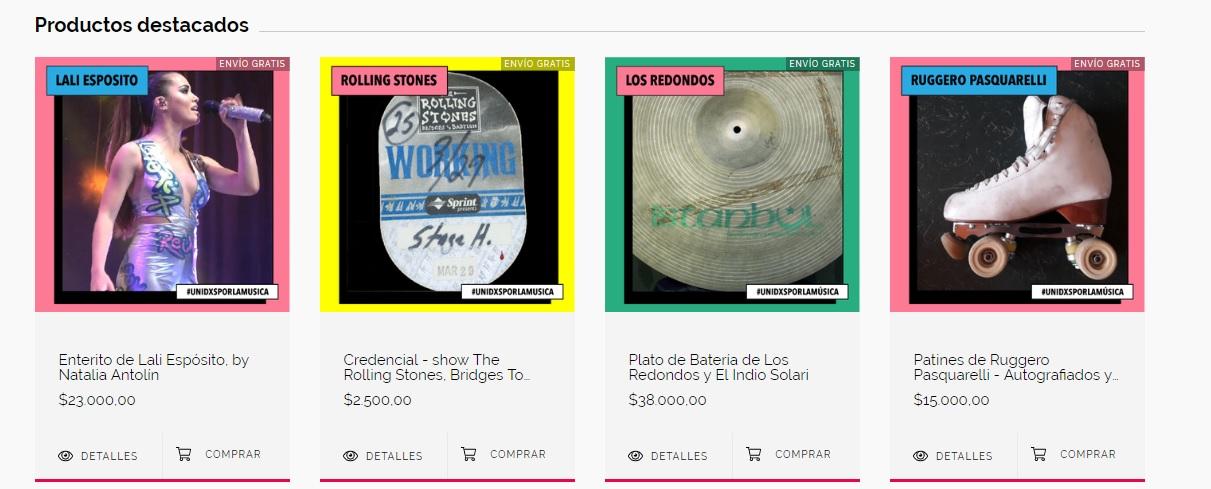 ¡Comprá los productos de tus artistas favoritos y ayudá a los trabajadores de la música! - Radio Cantilo
